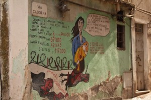 The street is named in honour of an Italian general. The mural condemns his military record