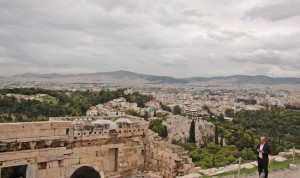 The view from the Acropolis - all Athens lies before it
