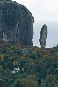 This disused monastery is being slowly reclaimed by the mountain
