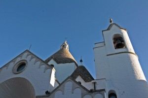 Trulli-topped church in Alberobello