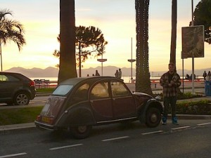 Charlie at sunset, Cannes, France