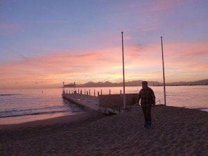 Charles at sunset, Cannes, France