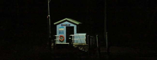Lovett Bay ferry terminal after hours