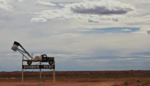 The Coober Pedy mining truck welcomes you to town