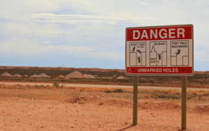 The many dangers of strolling around Coober Pedy