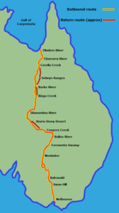 The planned route of the mammoth expedition