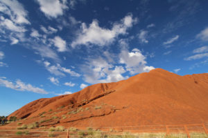 Even the wide angle lens doesn't do justice to the scale of Uluru