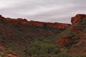 Looking along the curve of Kings Canyon
