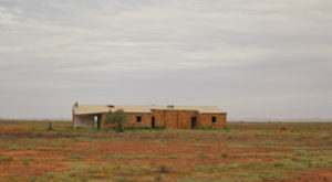One of many old railway sidings now sinking into the outback desert