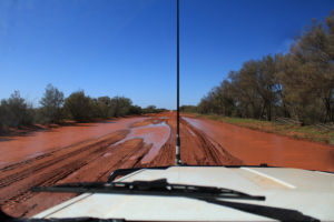 One of the many hazards of outback tracks