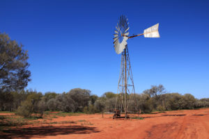 The windmills are vital for pumping water in remote areas