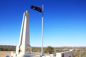 Anzac Hill at Alice Springs, surrounded by hills