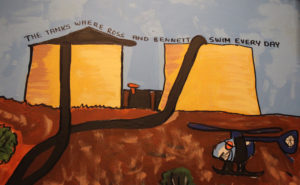 School art depicting outback life