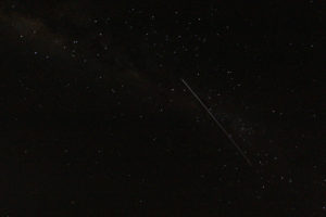 The International Space Station shot through our night sky
