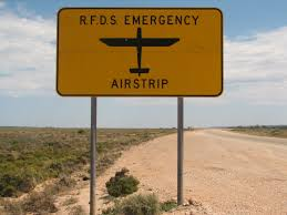 An emergency airstrip on an outback road