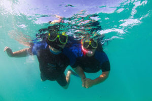 Obligatory cheesy snorkelling couple photo